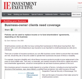 Business owner clients need coverage
