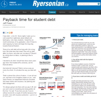 Payback time for student debt