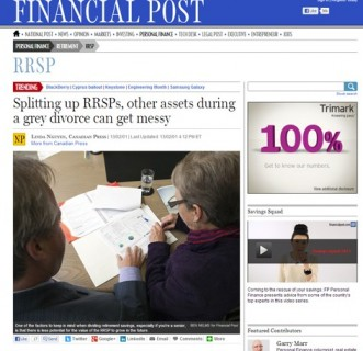 Splitting up RRSPs, other assets during a grey divorce can get messy