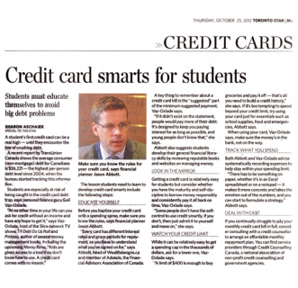 Credit card smarts for students