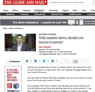 Should you borrow to invest? Globe and Mail