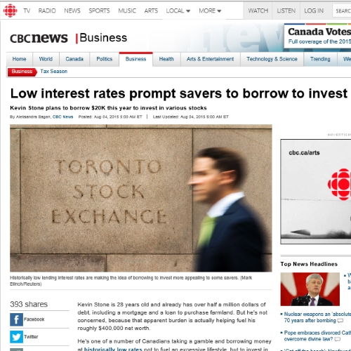 Low interest rates prompt savers to borrow to invest cbc