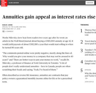 Annuities gain appeal as interest rates rise